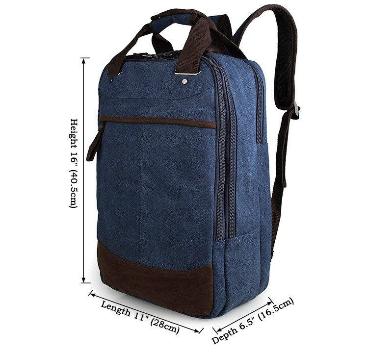 High Quality Canvas Large Capacity Men Laptop Backpack 9028K