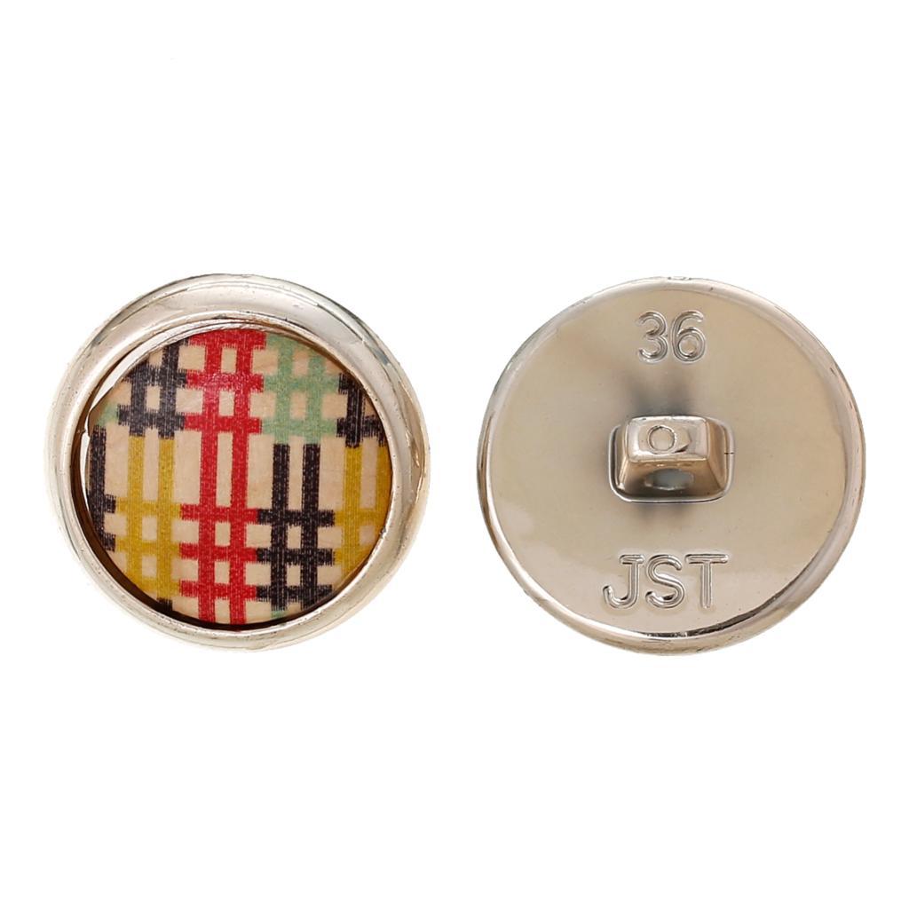 "Wood Shank Button Scrapbooking Round Multicolor Single Hole Lattice Pattern 23.0mm( 7/8"")Dia,3 PCs 2015 new(China (Mainland))"