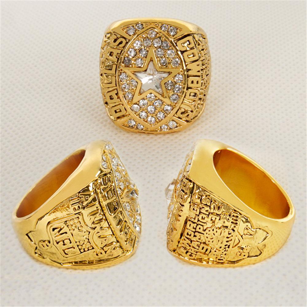 2015 New Punk Style Dallas Cowboys 1992 Super Bowl Championship Ring Football NFL Ring Replica Big Size, Gold Ring(China (Mainland))