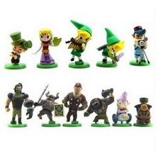 The Legend Of Zelda 12pcs/lot PVC 5~6CM Action Figure Q Version Model Decoration Kids Toy Hot Sale Cheap