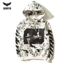 Hoodies Men 2016 Brand Male Long Sleeve Hoodie Sweatshirt Mens Cardigan Moletom Masculino Hoodies Slim Tracksuit Off White XL FH(China (Mainland))