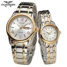 Original GUANQIN Women Mens Watches Quartz Top Brand Luxury Sapphire Waterproof Fashion Lovers Watches Relogio masculino Relojes