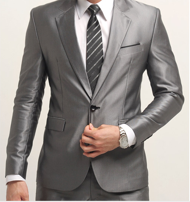 22-Free Shipping New 2015 man suit classic Fashion grooms man suits! Men's Blazer Business Slim Clothing Suit And Pants