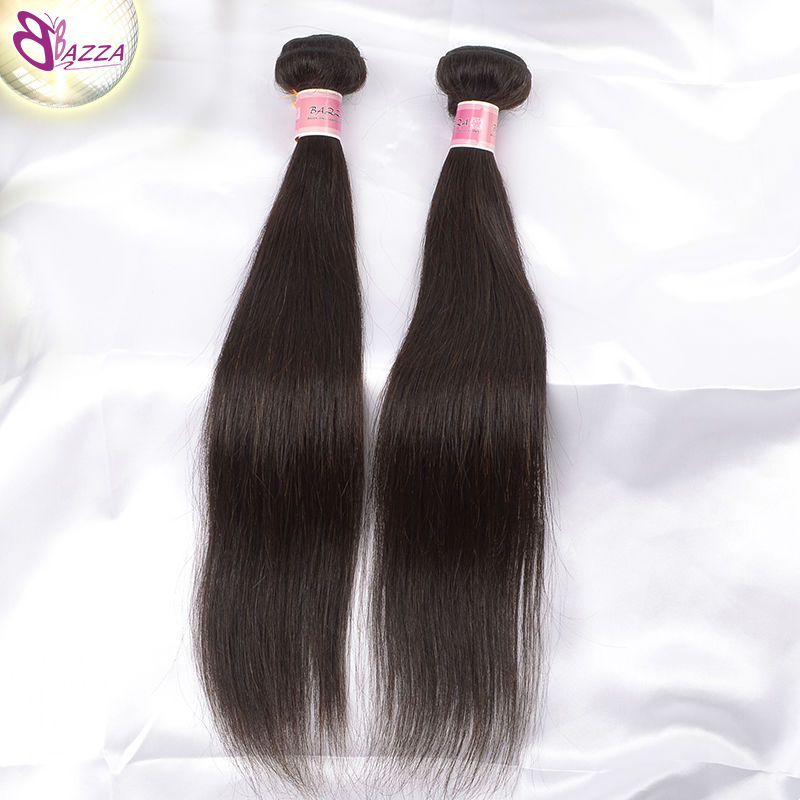 BAZZA Cheap 3 Bundles Brazilian Straight Hair HAIR EXPORTERS Raw Virgin Unprocessed Straight Unprocessed Virgin Hair(China (Mainland))