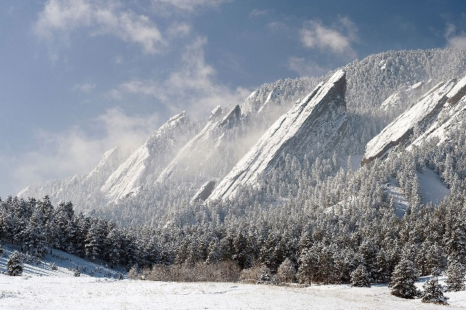 winter nature landscapes Scenery Poster Home Decoration Printing Silk Wall Poster -High quality Picture Print