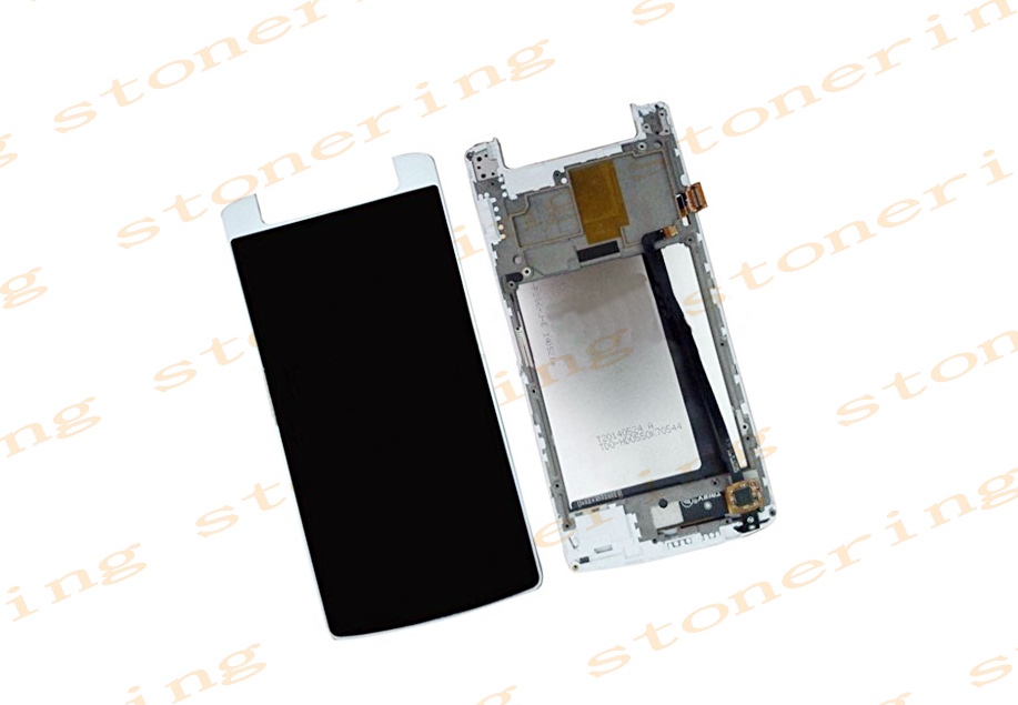 Original Lcd Screen Display and Touch Screen Digitizer Assembly with Frame for Inew V8 (White)