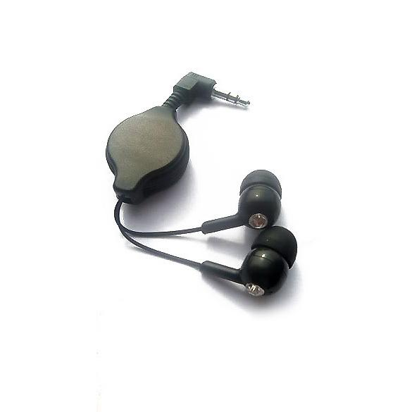 Portable Retractable InEar Earbud Earphone Headphone for mp3 Schwarz GUB#