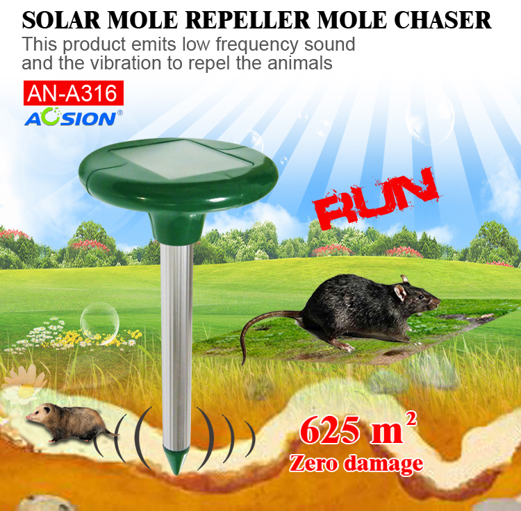 Aosion outdoor Garden Tool Solar mice rats rodent mole Repeller AN-A316(China (Mainland))