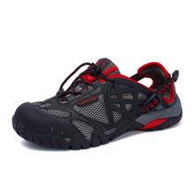 Брендовые мужские летние сетчатые сандалии размера плюс 35-47, унисекс стиль, мужская и женская дышащая повседневная обувь, пляжные водонепро...(China)