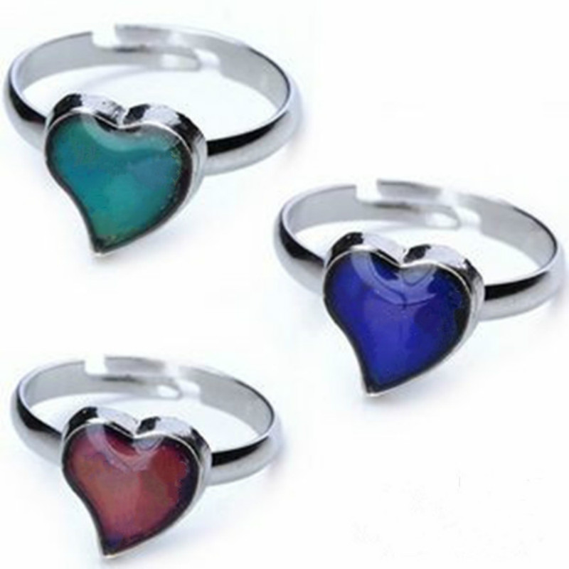 Fashion classic Delicate peach heart Love the magic mood ring 10PCS/lot Changing Color ring Free shipping MR1024(China (Mainland))