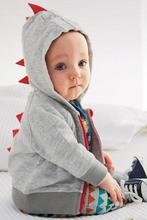 Baby Boys Kid Casual Hooded Long Sleeve Solid Good Selling Chic Stylish Dinosaur Outwears Lovely Coats(China (Mainland))