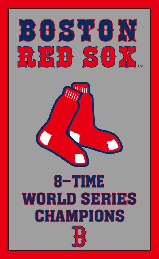 MLB Boston Red Sox Flag 90x150cm metal grommets Free shipping 100D(China (Mainland))