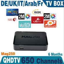 Linux arab iptv box MAG25 Europe IPTV Account 6month Subscription Sports Canal MAG250 French Arabic IPTV Box no monthly fee