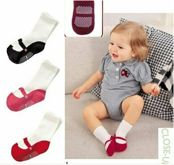3pairs/Lot Baby Toddler Ballet Shape Crew Anti-Slip Socks Shoes Booties Lovely Cute Baby Girls Ballet Socks(China (Mainland))