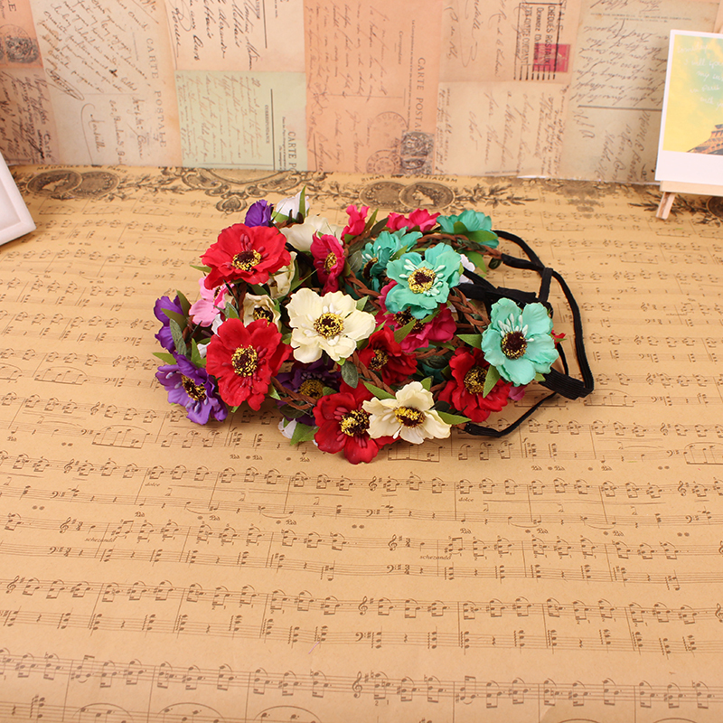 Fashion Women Bohemia Beach Flower Hair Bands Headband Accessory 8 Colors Drop Shipping Head wear - one joy store