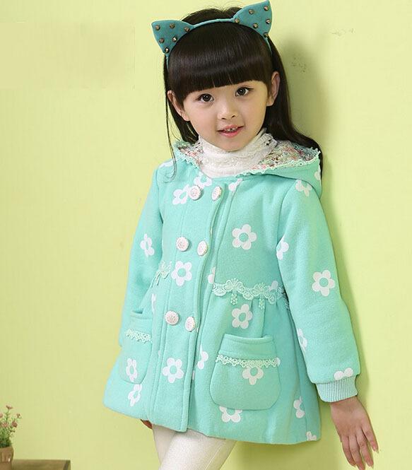 Children Outerwear & Jackets Kids Jackets Baby Girls Thicken Coat Hooded Jacket Baby Girl Winter Clothes Baby Winter Jacket Coat(China (Mainland))