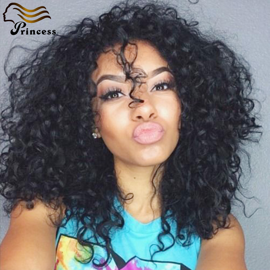 Peruvian Kinky Curly Lace Front Wigs Unprocessed Human Hair Wigs For Black Women Glueless Kinky Curly Full Lace Wigs Free Ship<br><br>Aliexpress