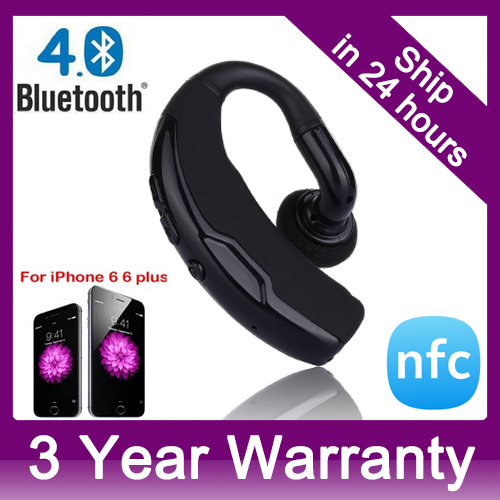 Wireless Bluetooth 4.0+EDR NFC Headset Headphone with Voice Control and Noise Cancellation Hands-Free Stereo A2DP Earphones