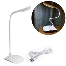 Gute arbeits Qualität Einstellbarer intensität USB Wiederaufladbare LED Schreibtisch Tischlampe Leselampe Touch-schalter Großhandel/einzelhandel(China (Mainland))
