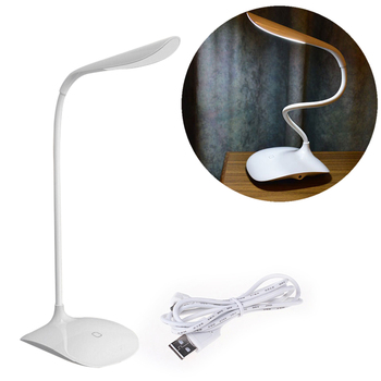 Good working High Quality Adjustable intensity USB Rechargeable LED Desk Table Lamp Reading Light Touch Switch Wholesale/retail