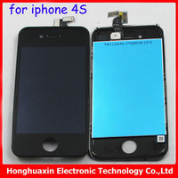 Fast shippment 10pcs/lot for iphone 4S original New LCD Digitizer screen Assembly +lcd glass touch screen white/black+tools