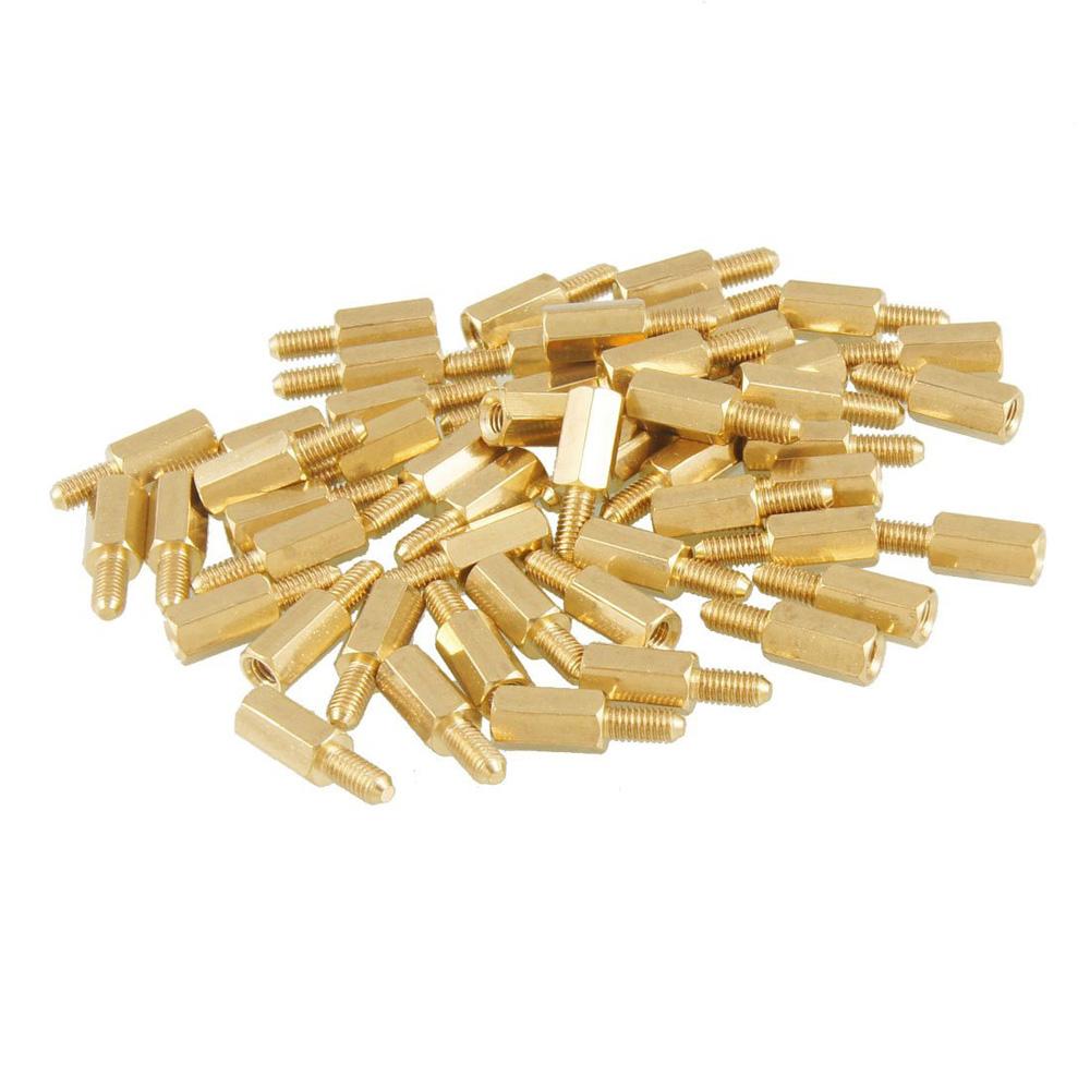 Гаджет  HOT SALE!E  50 Pcs Brass Screw Thread PCB Stand-off Spacer M3 Male x M3 Female 6mm None Аппаратные средства