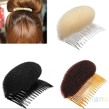 Hair Styler Volume Bouffant Beehive Shaper Bumpits Bump Foam On Clear Comb Xmas  07A5(China (Mainland))