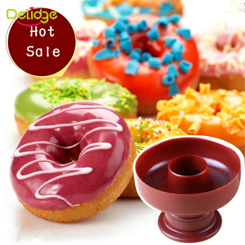 Handmade Sweet Donut Maker Cutter Plastic Mould DIY Fondant Cake Bread Dessert Pastry Mold Kitchen Baking Tool(China (Mainland))
