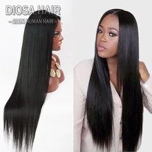 7A Glueless full lace human hair wigs  Malaysian Lace Front Human Hair Wigs for black women straight human hair U part wigs(China (Mainland))