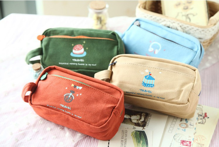 New Year Party Favors Estuche School Kit Pen Case Gift For Children Bag Pouch Cartoon Stationery Material Escolar estojo escolar(China (Mainland))