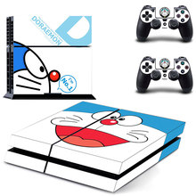 Doraemon Skin Vinyl Skins Sticker for Sony PS4 PlayStation 4 and 2 Controllers Skins Cover DPTM0036