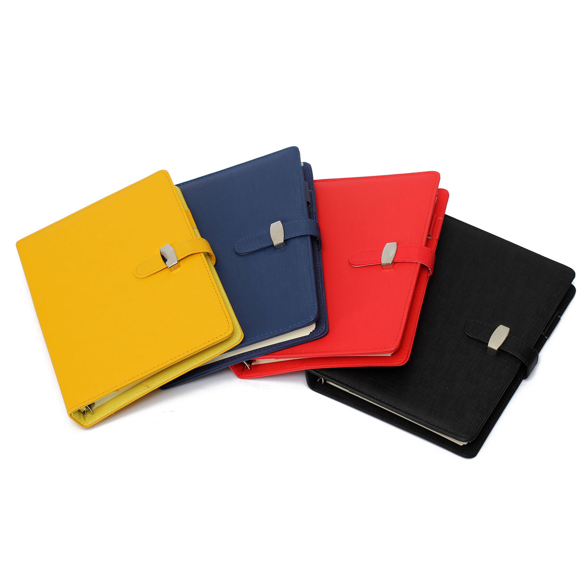 Overvalue A5 Personal Pockets Organiser Planner PU Leather Cover Diary Notebook Spiral Office School Supply(China (Mainland))