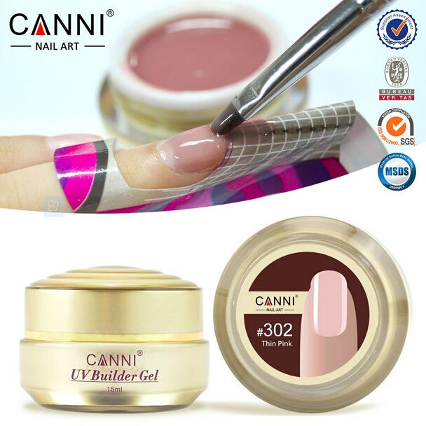 CANNI Natural Nude Pastel Color UV Builder Gel Camouflage Acrylic Nail Art False Tips Extension 15 Colors 15ml  -  ColorArt Co. LTD Store store