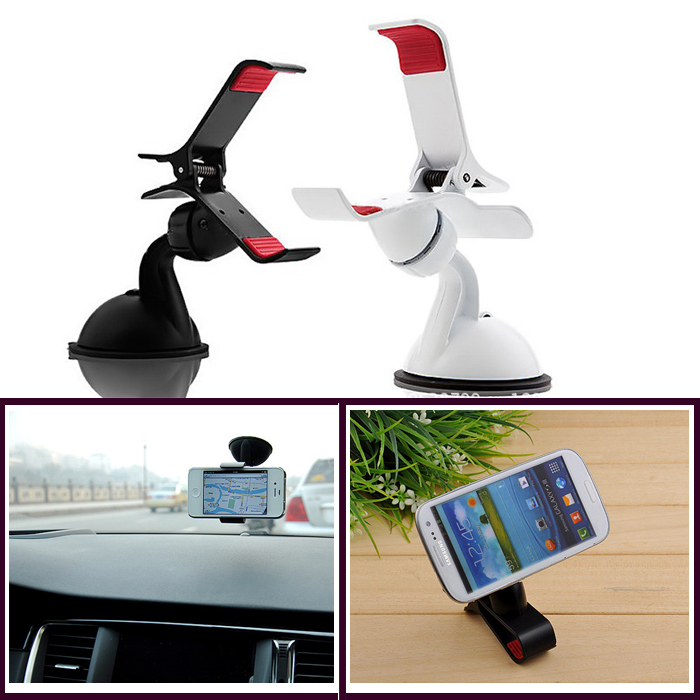 Universal Car Windshield Mount car Holder Bracket stand support for Mobile phones Samsung galaxy S4 S3 Note 2 iphone 5 5s 5c 4s(China (Mainland))