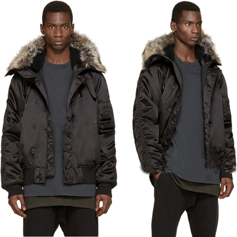 yeezy season mens winter jackets and coats men's MA1 warm jacket hoodies black ma1 flight bomber N2B kanye west KANYE jacket