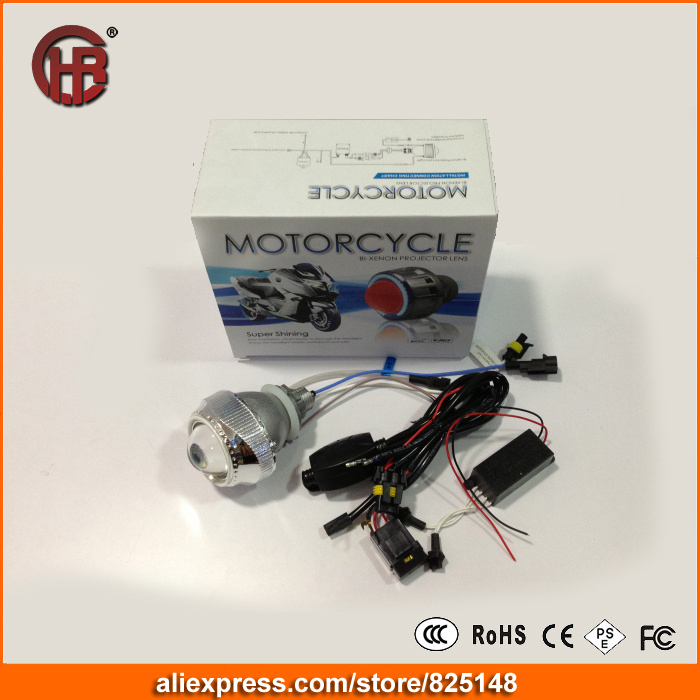 2.0'' INCH MOTORCYCLE BI XENON HID KIT Xenon Bulb HALO AngelEye Angel Devil Eye Projector Lens Universal H4 H1 H7(China (Mainland))