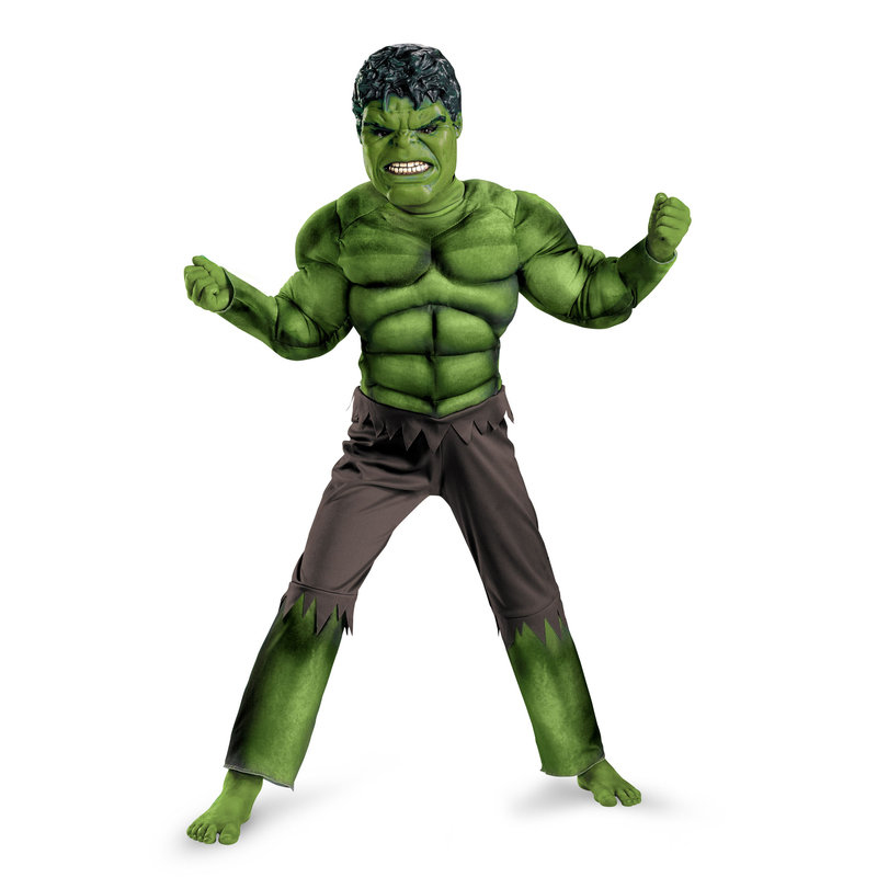 Factory Direct Selling Boys Hulk Muscle Cosplay Clothing Kids Avengers Superhero Movie Role Play Party Halloween Purim Costumes(China (Mainland))