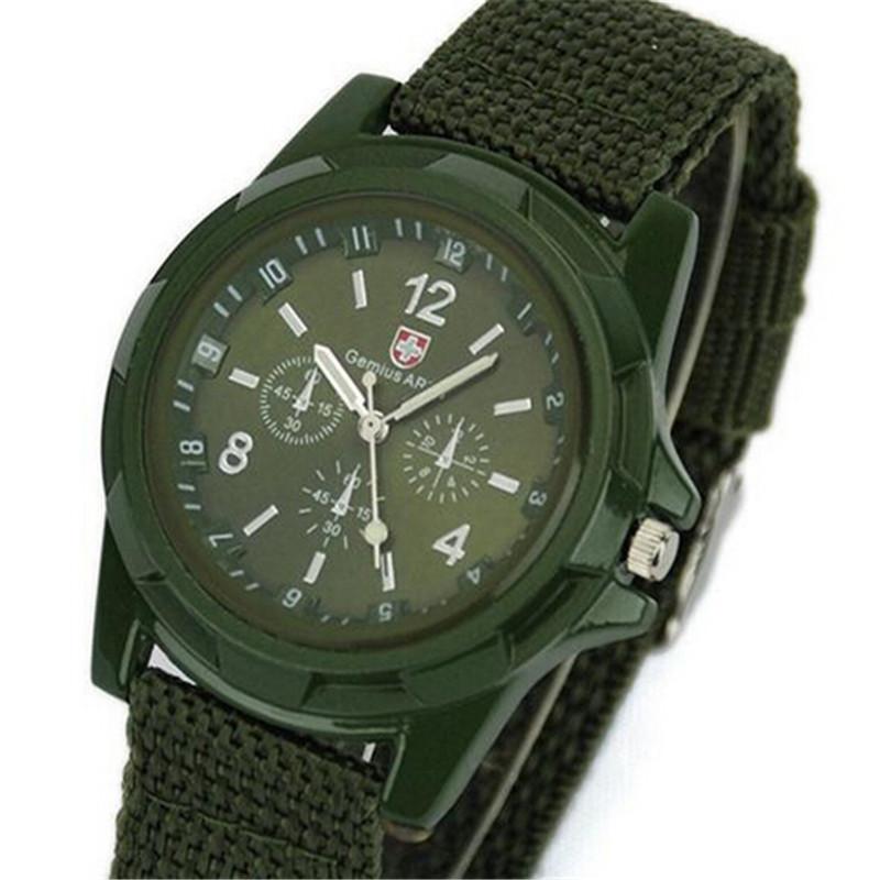 Big Sale 2015 New Fashion Soldier Military Quartz Canvas Strap Fabric Watch Men Outdoor Sports Watches