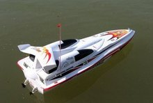 Blue streak RC racing boat,R/C high speed boat toys Maximum speed 40-50km/h Tri-gears switch bait boat DH7008 P2
