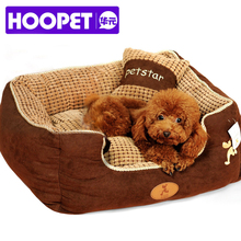 free shipping puppy pet dog bed warming dog house soft materialfa bric sofa warm winter for dog cat pet products give a pillow(China (Mainland))