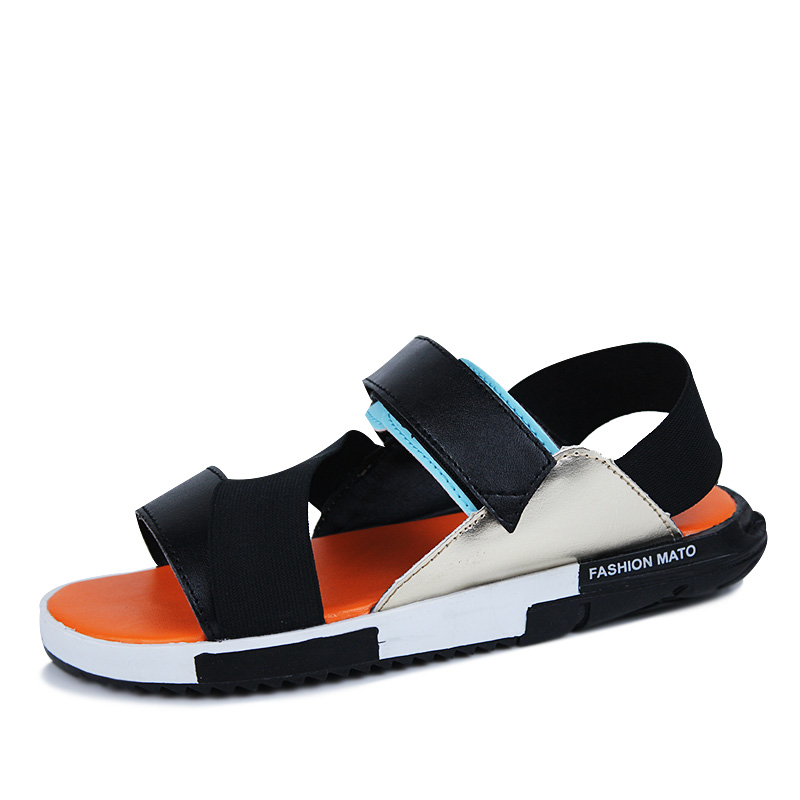 2016 Summer slippers Brand men sandals sport sandals outdoor 3color PU leather men fashion Rome sandalia masculina free shipping(China (Mainland))