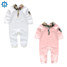 Baby Rompers 100% Cotton Long Sleeve Cartoons 2 colors Fashion Style Baby Girl Clothes Toddler Boy Jumpsuits Bebe Roupas HB062
