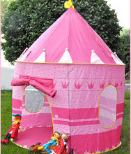 Ultralarge paragraph child princess tent toy game house infant child tent kids play house baby girl play tent free shipping(China (Mainland))