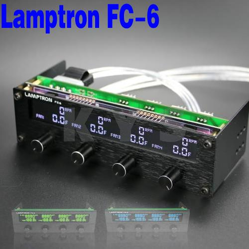 Lamptron FC6 5.25 Driver Place Fan Speed Controller LCD Screen 4 Channels<br><br>Aliexpress