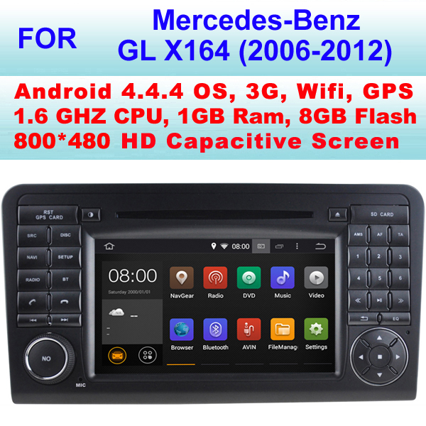 Radio Android 4.4.4 For Mercedes X164 Car DVD Player Mercedes Benz GLX164 (2006-2012)(GL63, GL320, GL350, GL420, GL450, GL500)(China (Mainland))