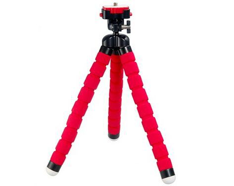 RM-100-1F Flexible Tripod Spider Mount Holder 360 Degrees Rotating Tripus for Digital Cameras, Mobile Phones (Red)(China (Mainland))