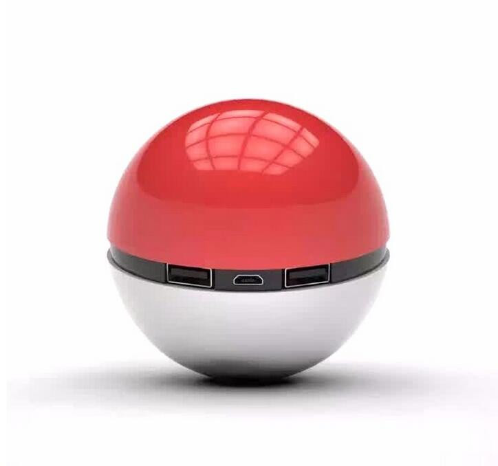 Pokeball Powerbank For Pokemon Go Toy Cosplay Games Ball Power Bank Portable Charger With LED Light External Battery 10000mAh