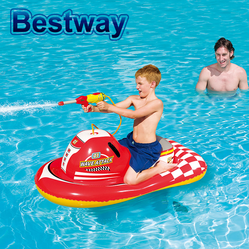 New Bestway Spray Gun Motorboat Swimming Ring Baby Kids Mounts Inflatable Water Toys Air Mattress Life Ring For Children(China (Mainland))