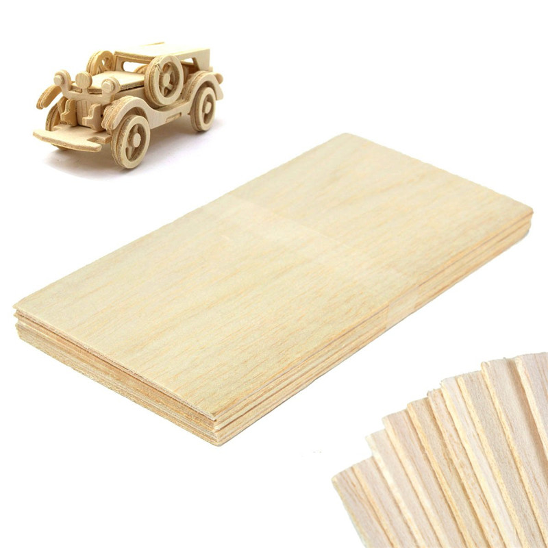 High quality 10 Sheets 100 x 200 x 1.5mm Model Balsa Wood Can be Used for a Variety of Models of DIY Production Without Burr(China (Mainland))