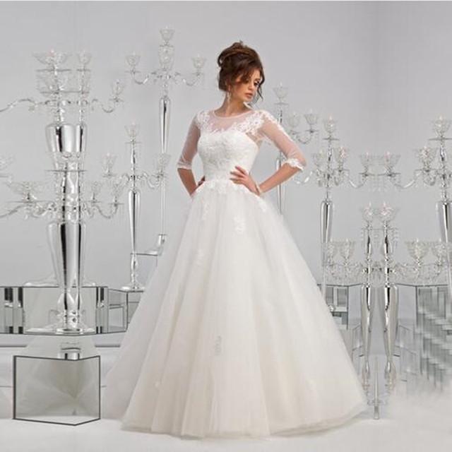 Vestido De Novia 2016 Sexy Lace Ball Gown Wedding Dress Backless Plus Size Wedding Dresses With